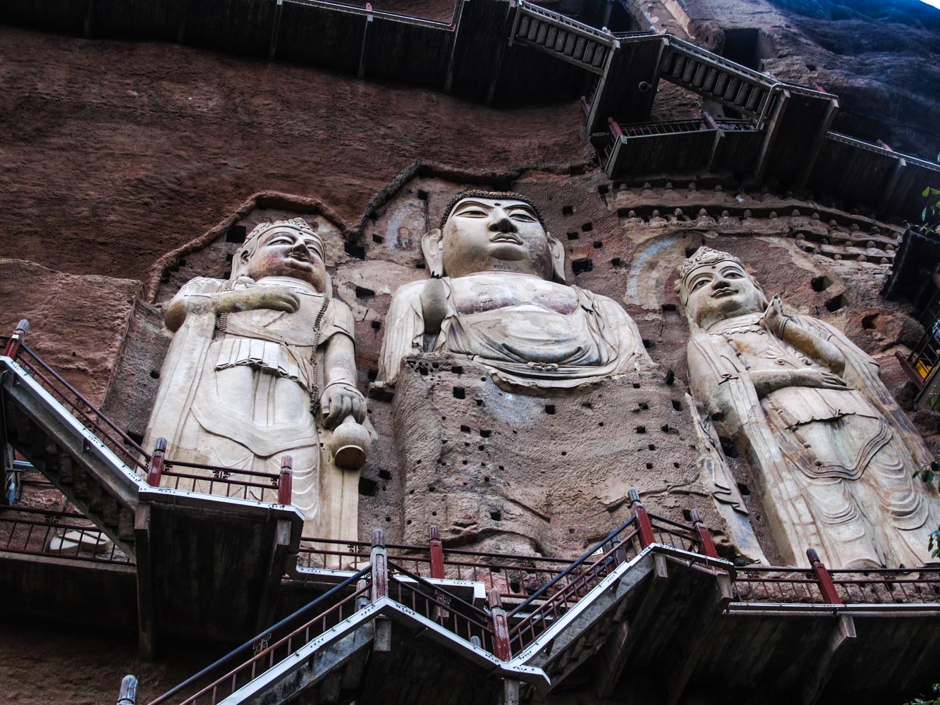The tallest statues at the complex, the biggest one is 16m tall