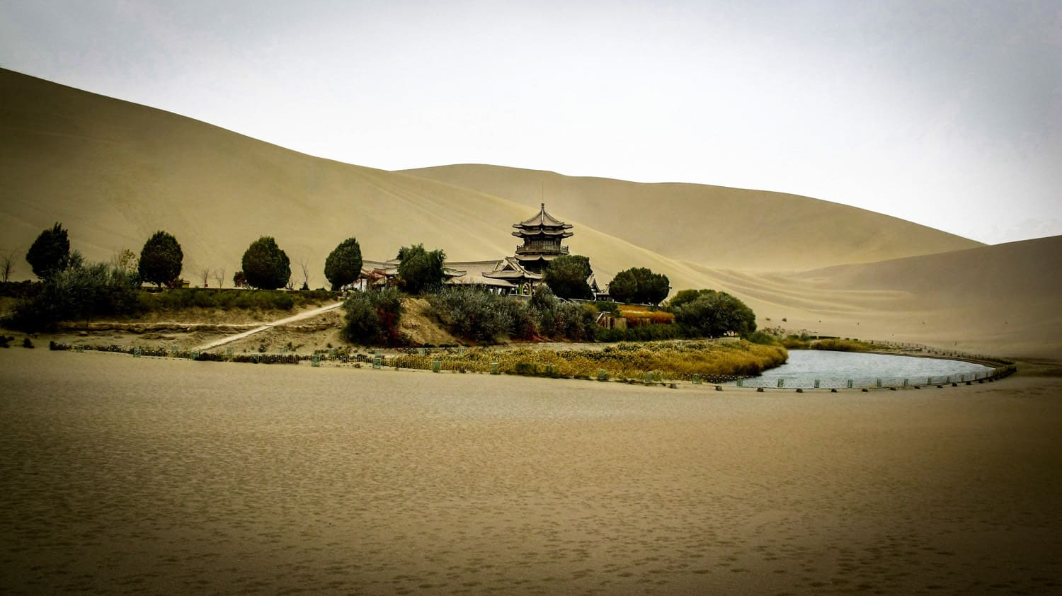 Crescent Lake,Dunhuang