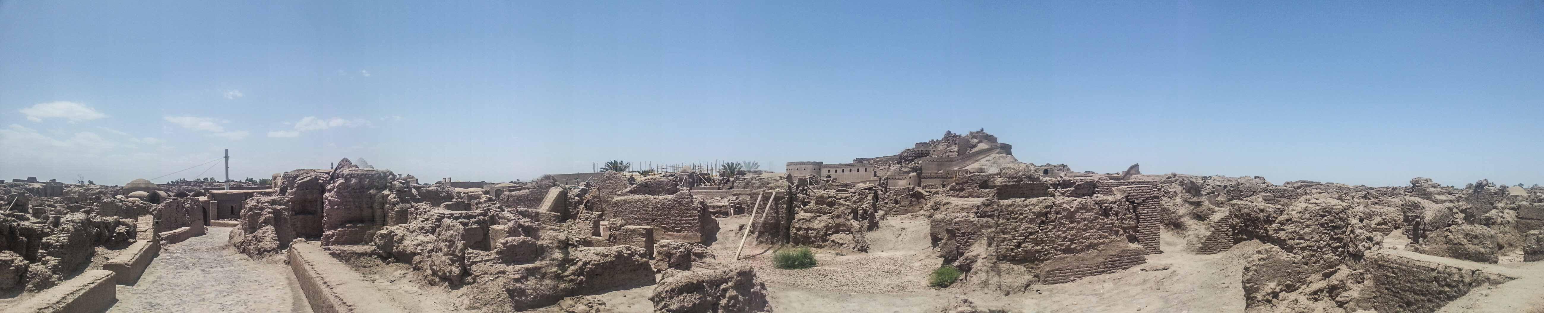 Panorama over Bam in Iran