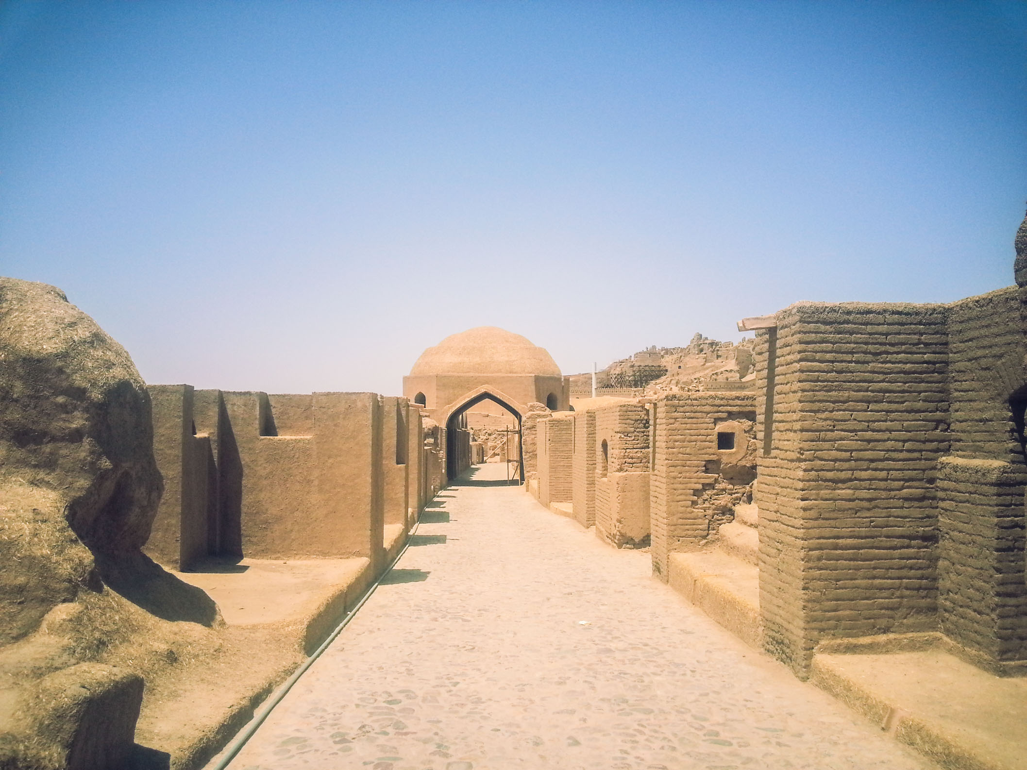 Rebuilt part of Bam in south Iran