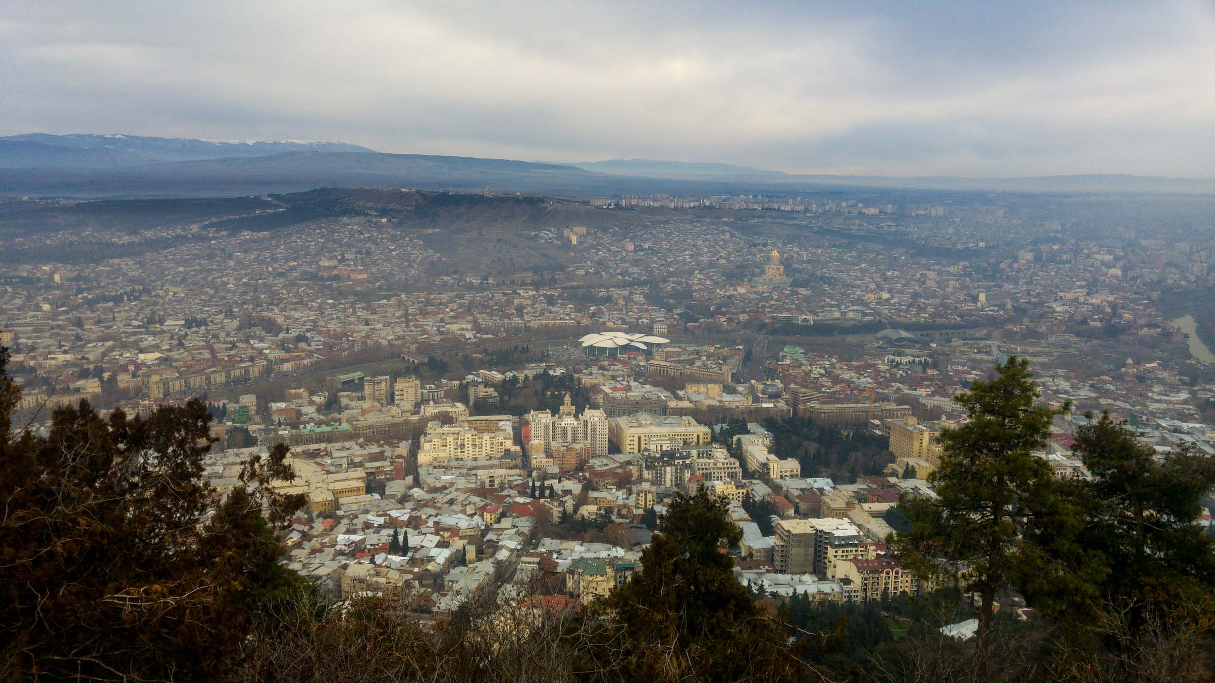 Panoramic view over Tbilisi the capital of Georgia