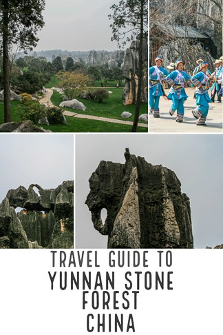Travel guide to Stone forest in Yunnan province in China, a Unesco world heritage site