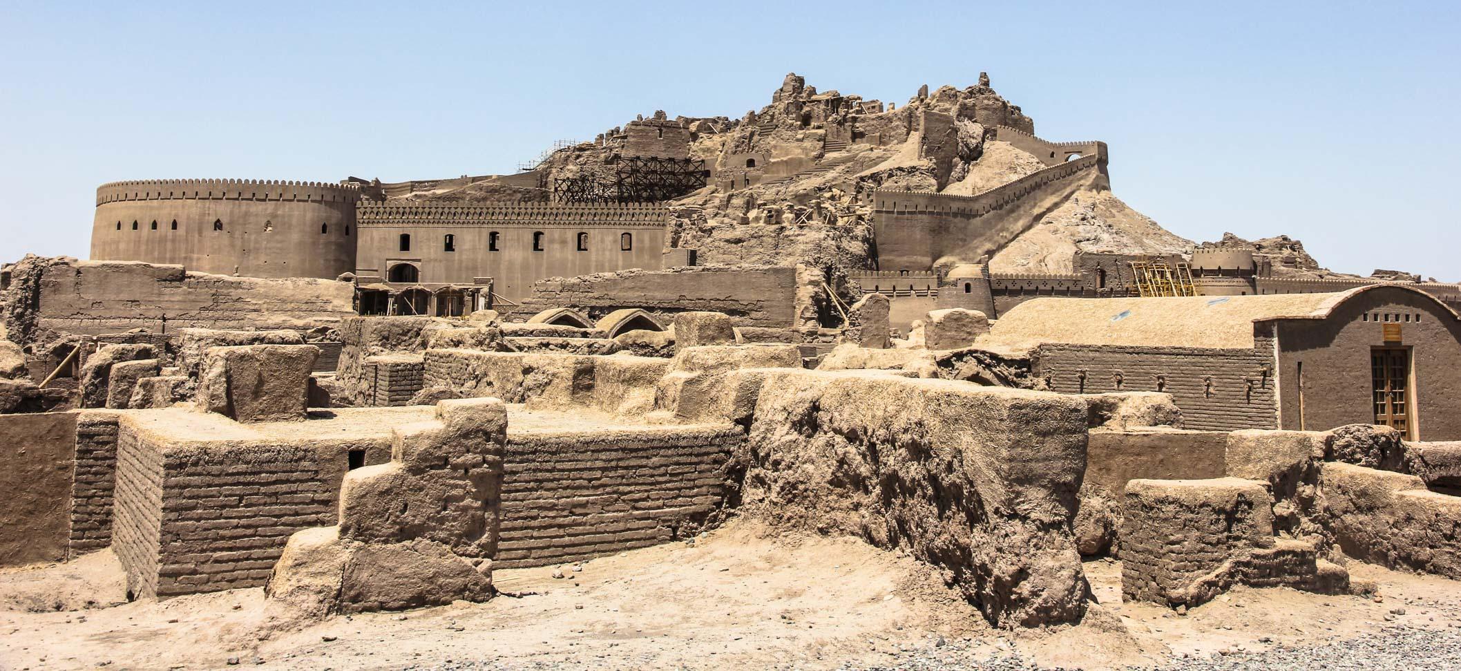 The Citadel of Bam getting rebuilt