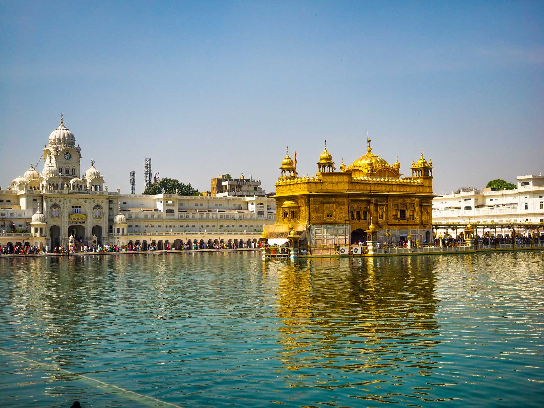 The Golden Temple of Amristar.