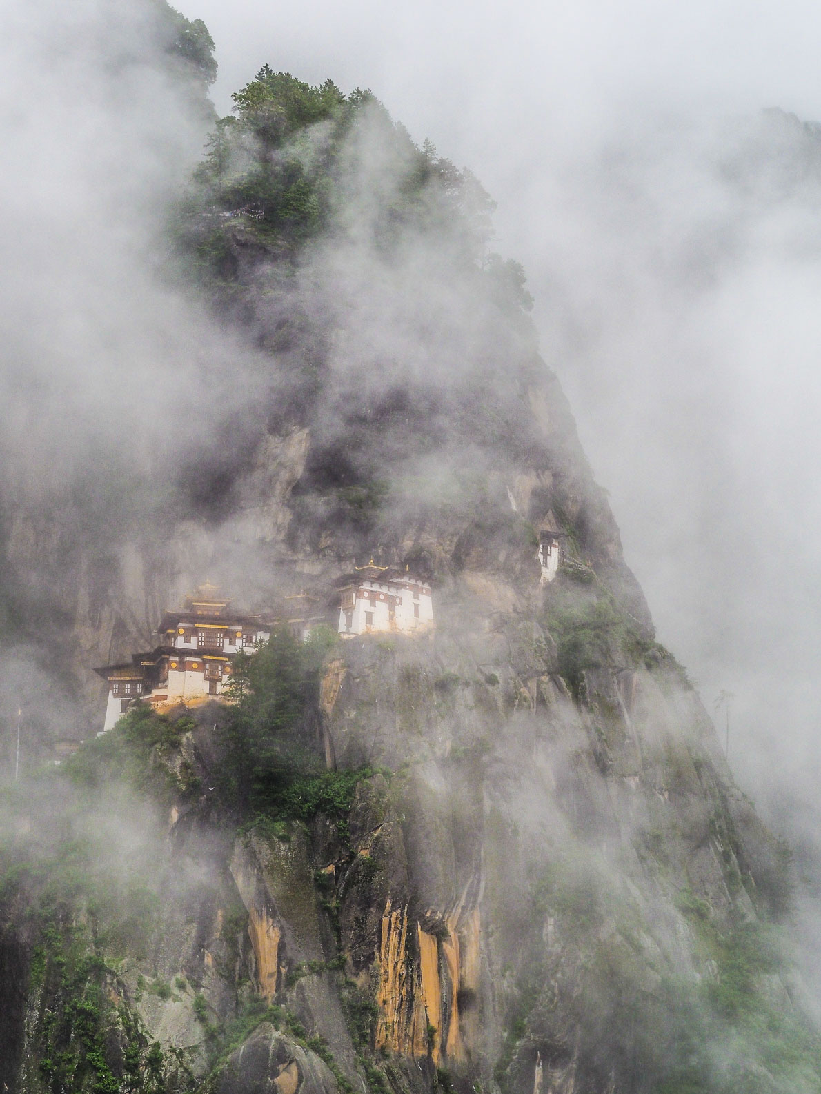 Tiger Nest Monastery in the clouds in Bhutan