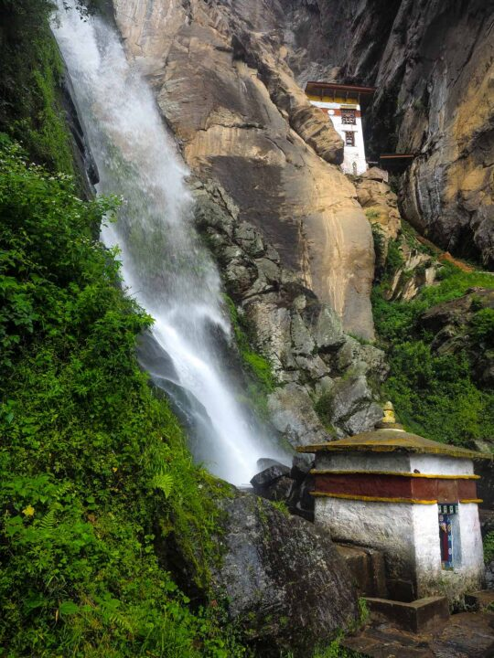 Waterfall in Bhutan on the way to the tiger nest monastery