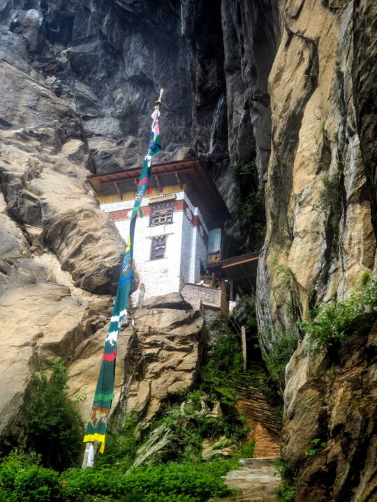 Meditation house on the way to the Tiger Nest Monastery in Bhutan