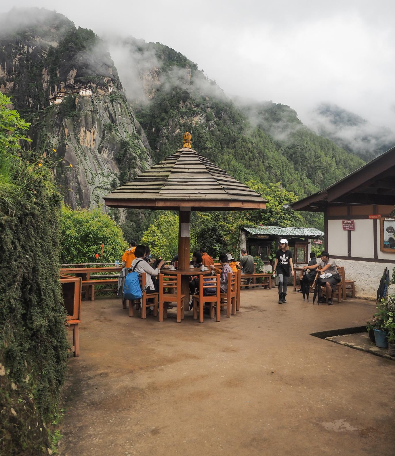 cafe on the way to the tiger nest monastery in Bhutan