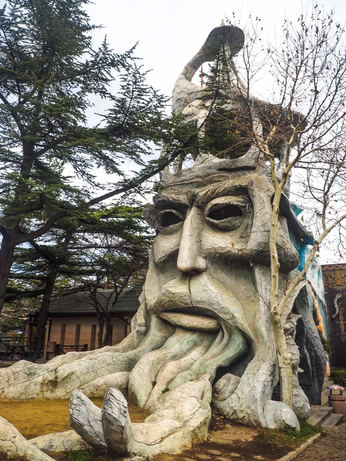 Strange art in Tbilisi Georgia