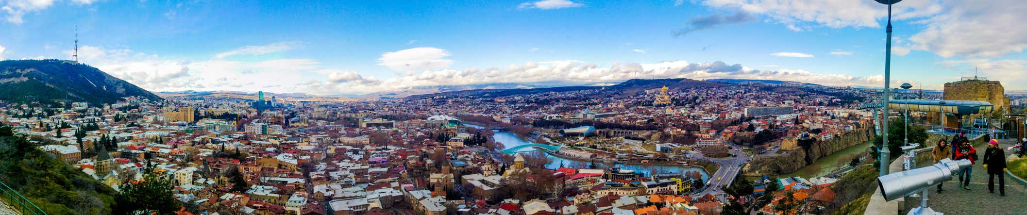 Tbilsi panoramic view over Georgia capital