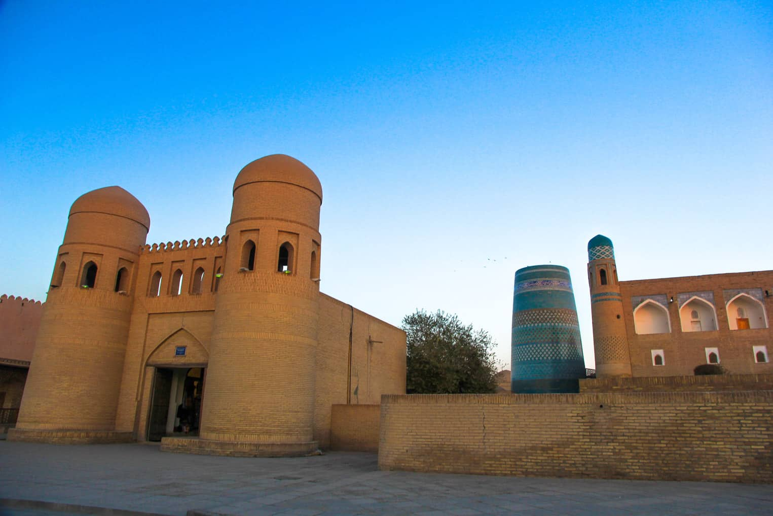 The main entrance to the old town of Khiva.