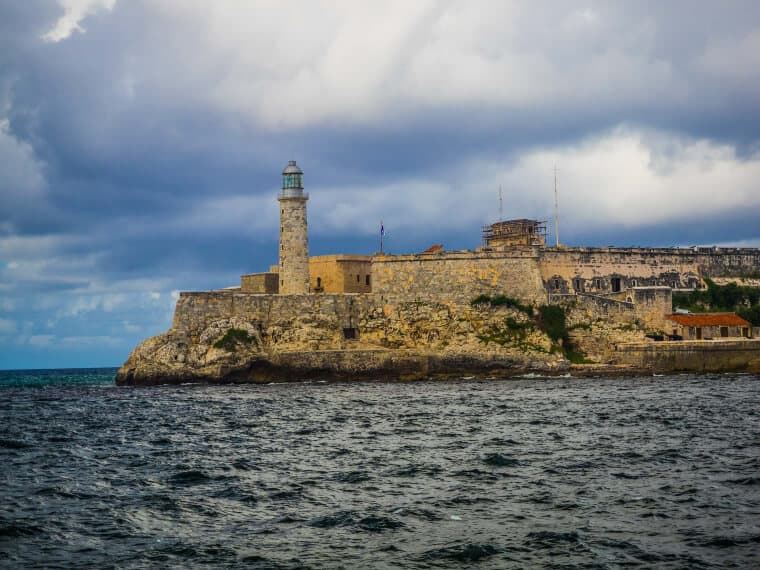 Lighthouse at Castillo de los Tres Reyes del Morro in Havana, Cuba