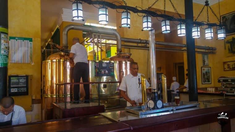 Craft beer brewery in Havana, Cuba
