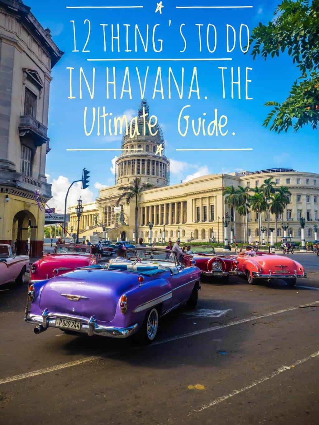 Pinterest image for the best things to do in Havana, Cuba