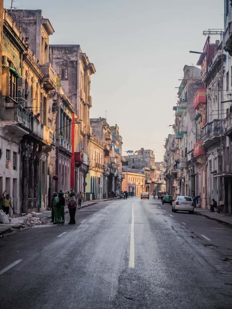 Empty street in Havana, Cuba