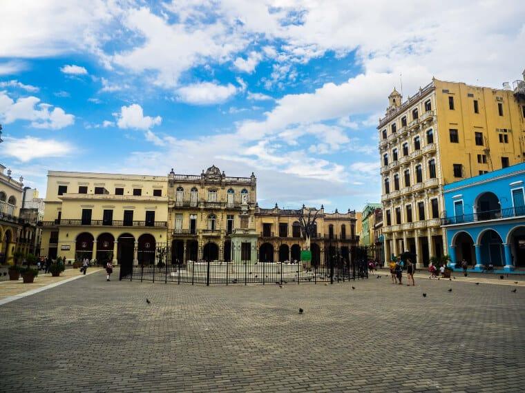 Buildings surrounding Plaza Vieja in Havana, Cuba