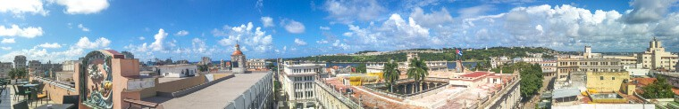 Panoramic view of Havana from the rooftop of Ambos Mundos Hotel