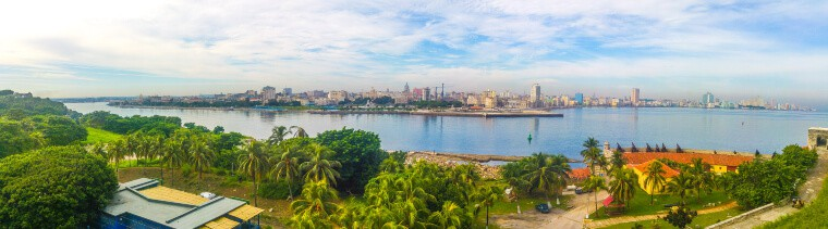Panoramic view of Havana, as seen from El Morro in Havana, Cuba