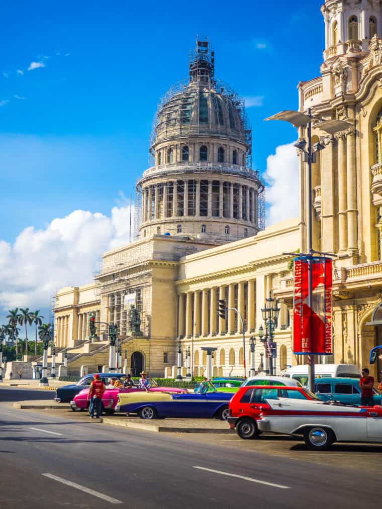 The capitol building of Havana, Cuba