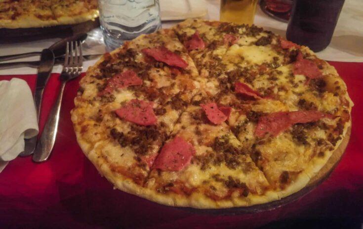 "Eritrean ""American"" Piazza, Ham and Cheese,"