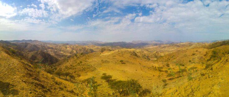 Typical landscape in the Eritrean highlands.