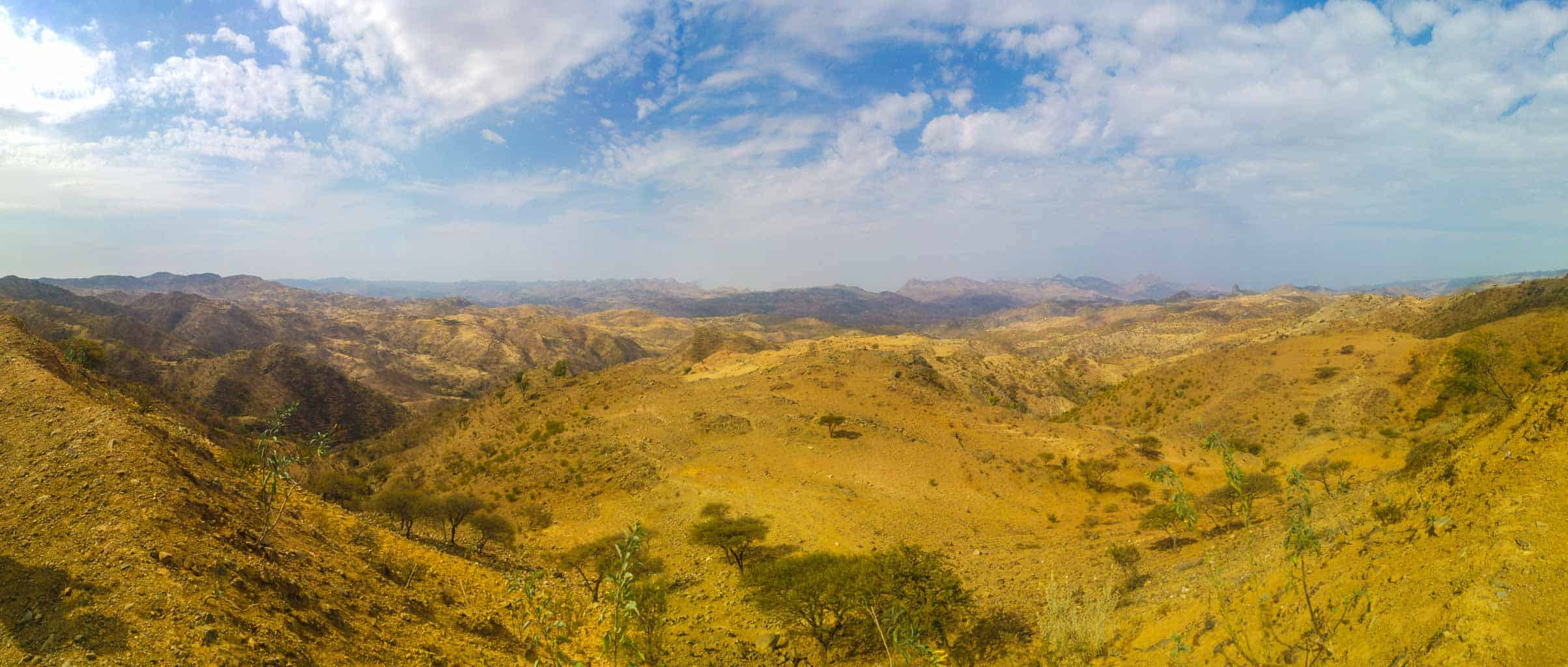 Typical landscape in the Eritrean highlands.