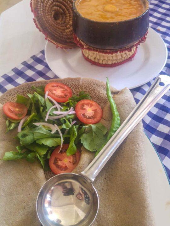 IsInjera typical Eritrean food