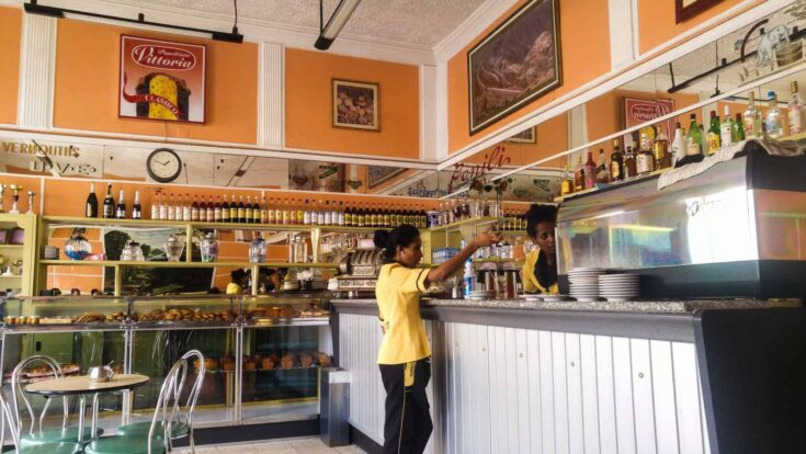 A typical cafe in Asmara,