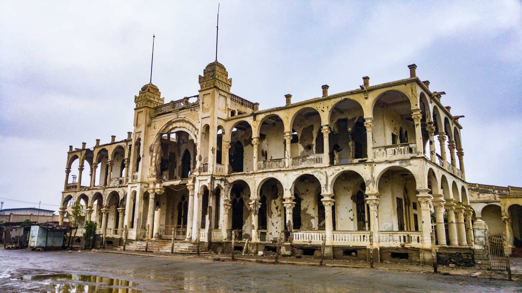 The old bang building in Massawa.