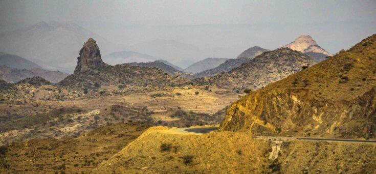 Scenery when heading west in Eritrea