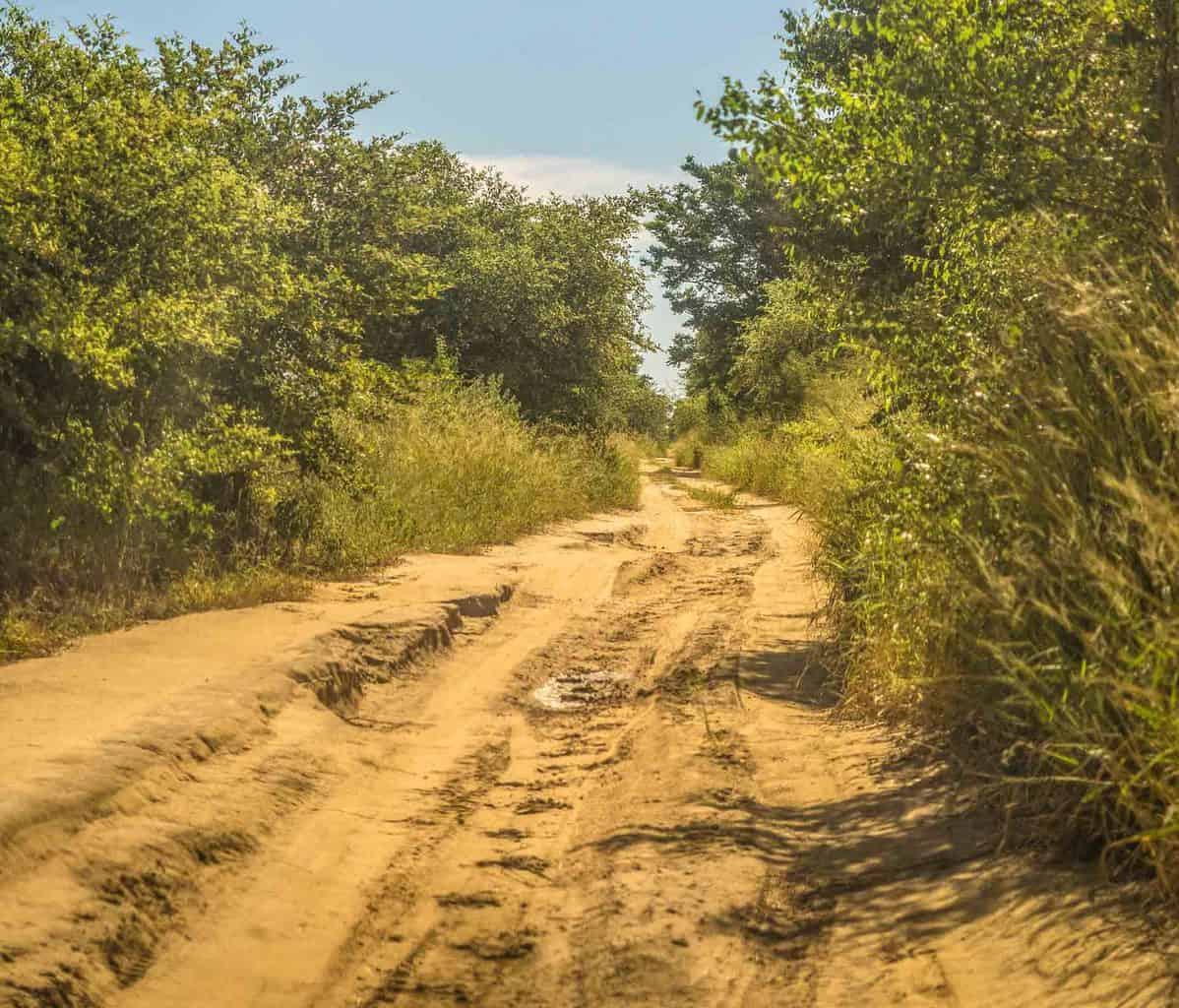 typical road in Madagascar