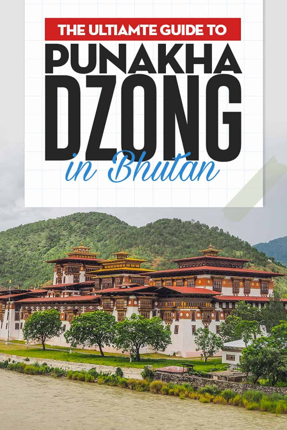 The Punakha Dzong are majestically standing on an island between the confluence of the Pho Chhu and Mo Chhu rivers, the city's dzong is one of the most photogenic of all Bhutan's ancient fortresses.