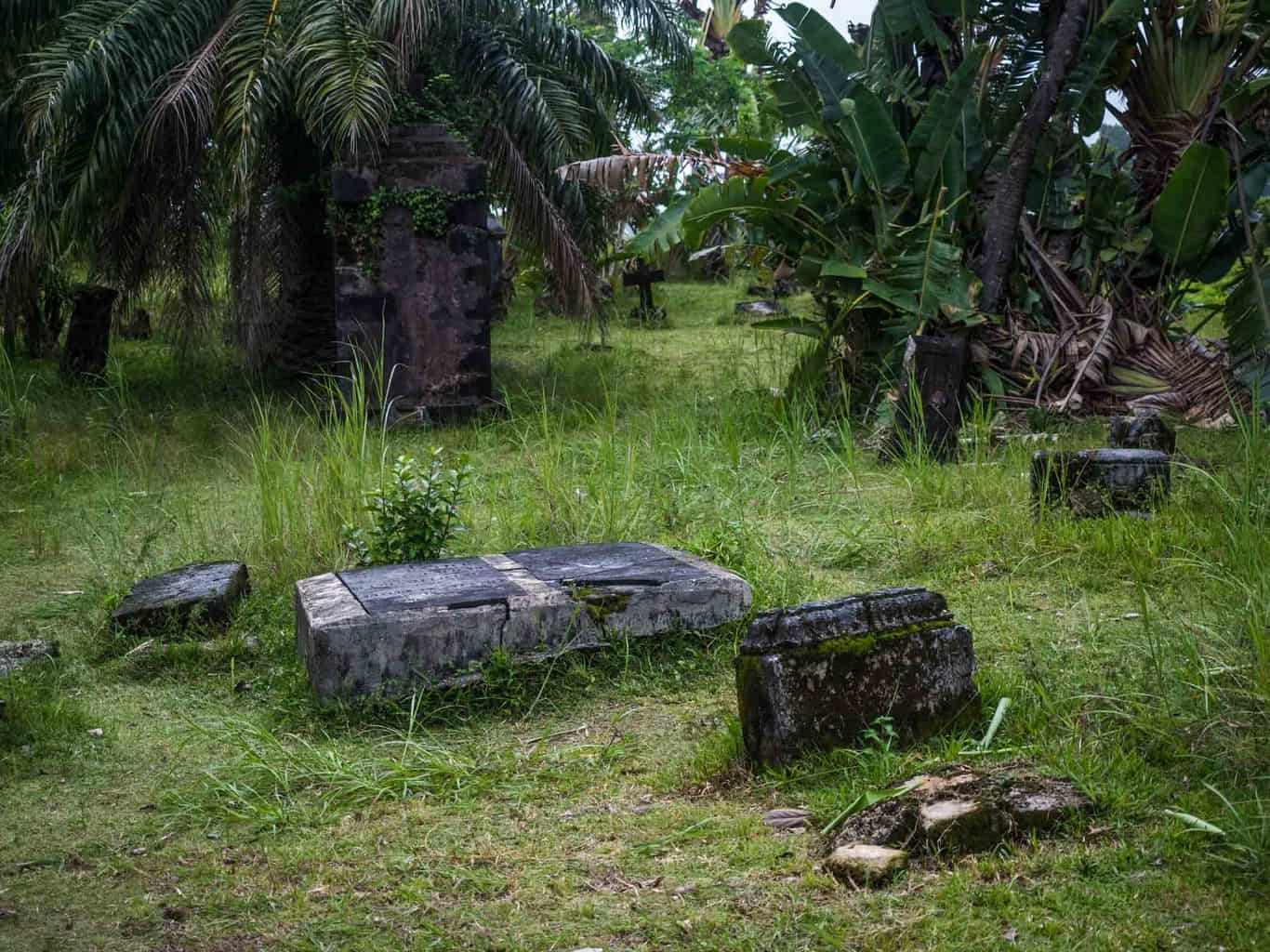 pirate cemetery with real pirate graves in Madagascar