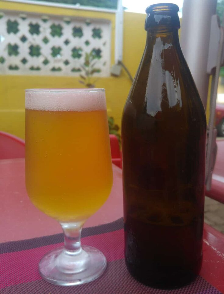 The local beer in Sao Tome & Principe comes without any label-