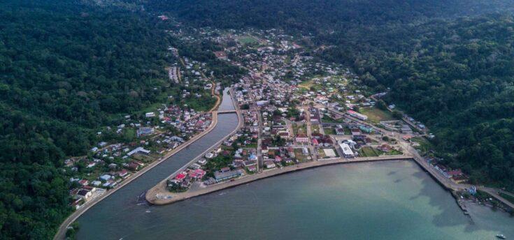The only town on Principe, Santo Antonio