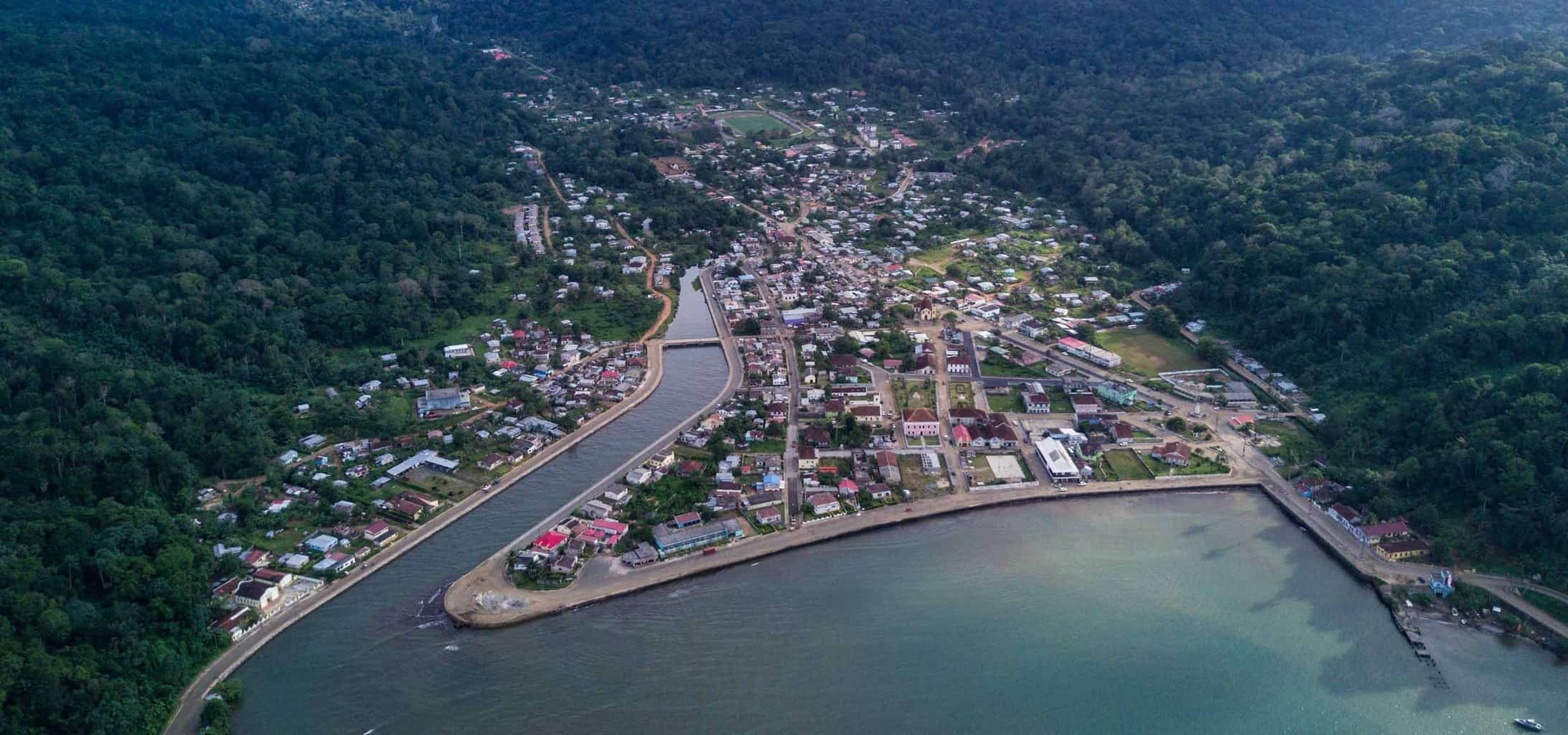 The only town on the Island, Santo Antonio