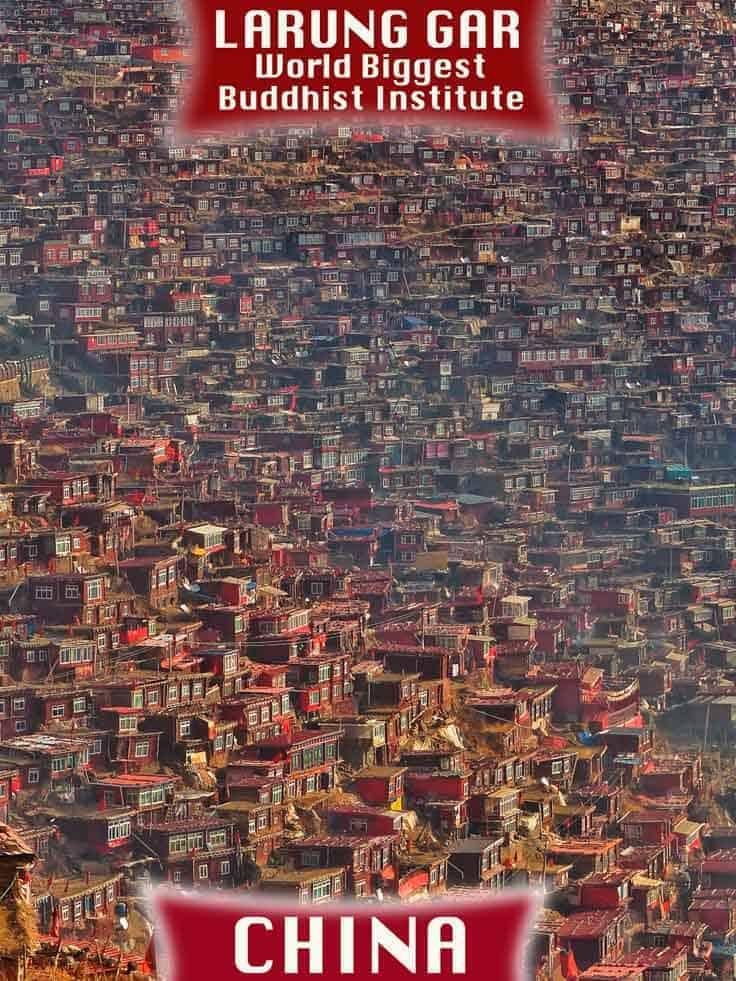 larung gar is the world's biggest Buddhist institute in sichuan province in western China