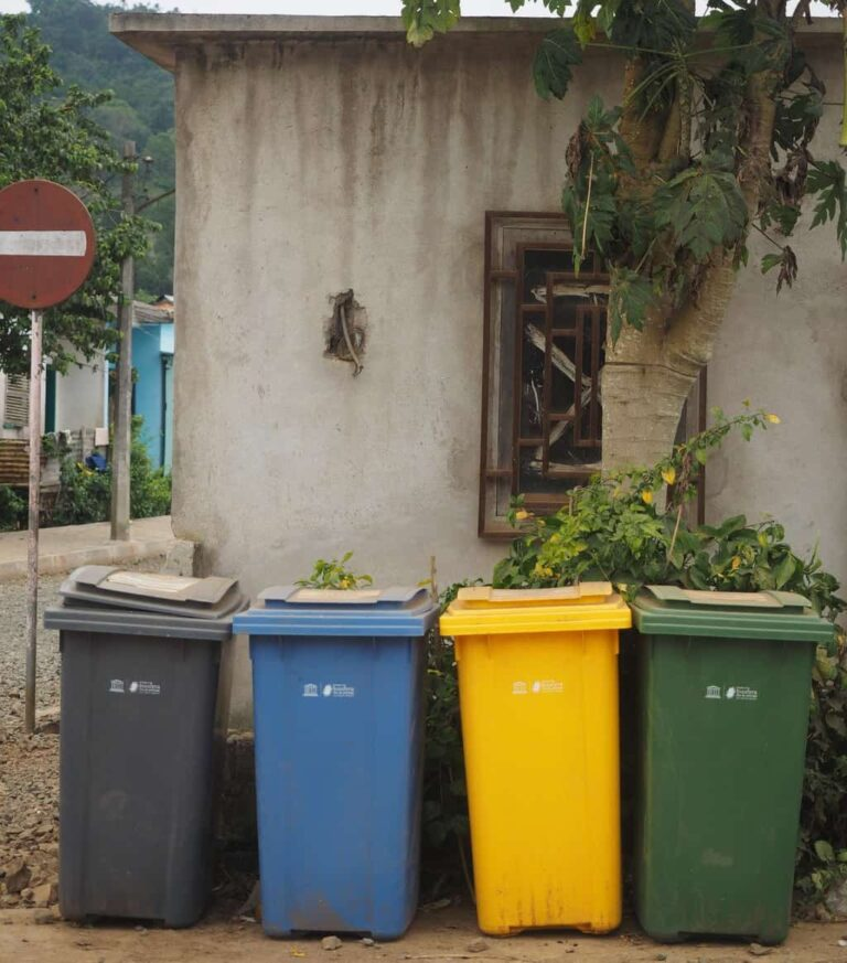 The locals on Principe recycle
