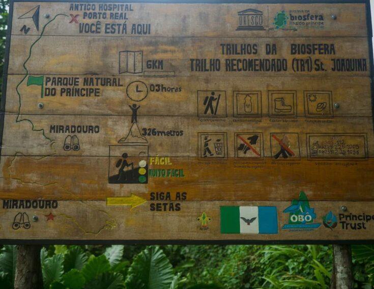 Hiking map Principe
