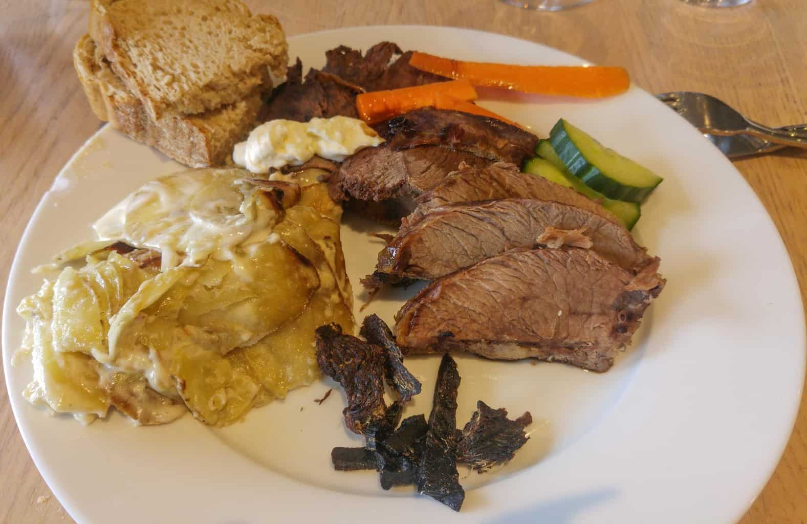 local food in greenland, whale, reindeer and musk ox