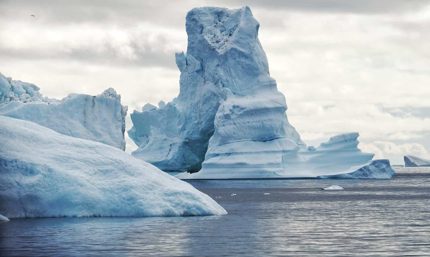 One of the many thousands of icebergs floating around the waters outside of Greenland