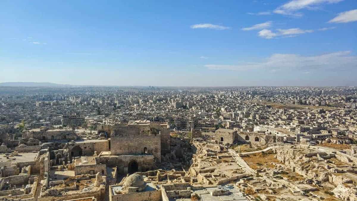 Inside Aleppo Citadel in 2017