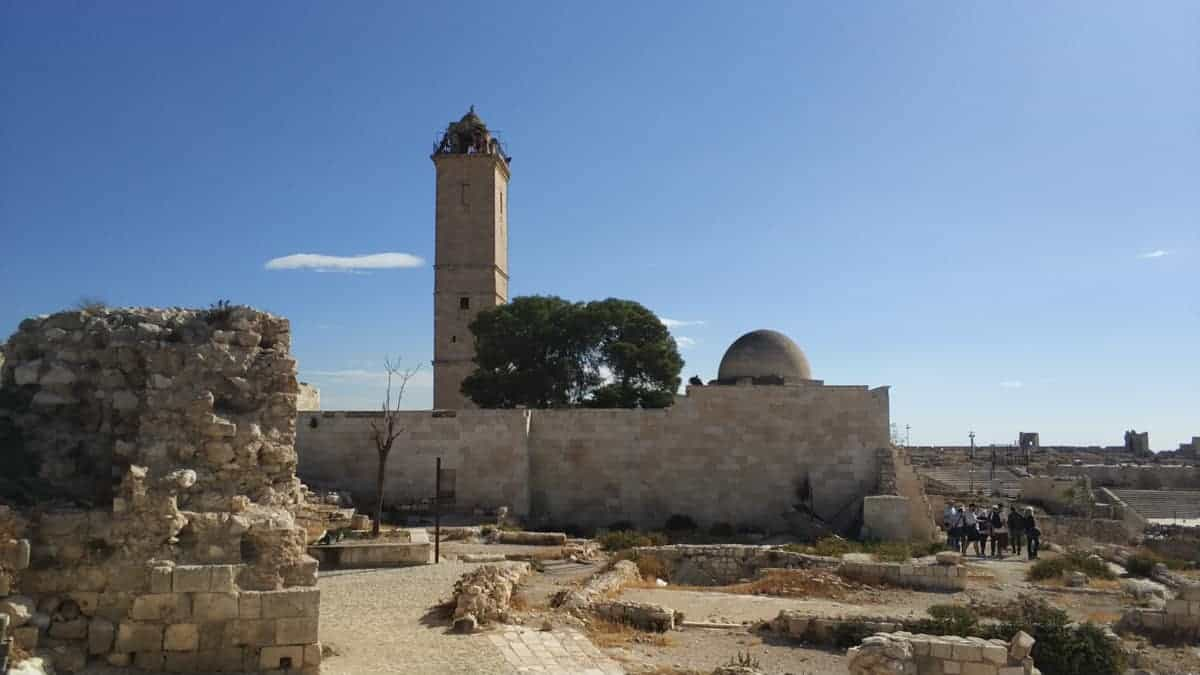 Mosque inside Aleppo Citadel