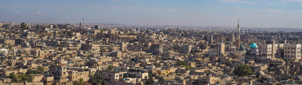 Overlooking Aleppo in Syria