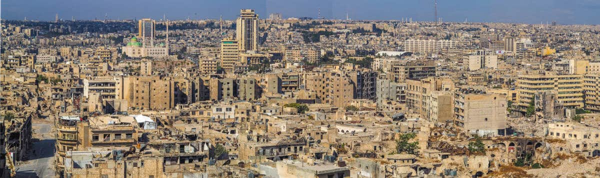 Panoramic view of Aleppo in Syria