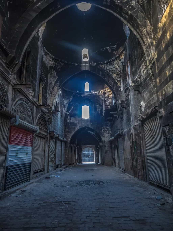 Aleppo souq in 2017