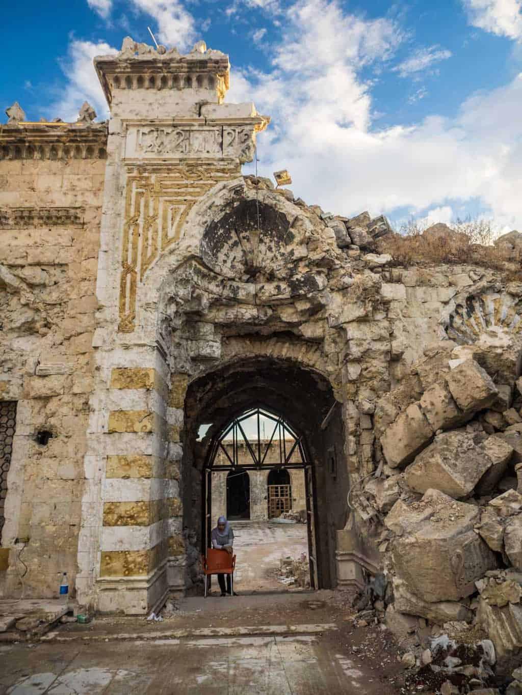 Aleppo Grand Mosque entrance
