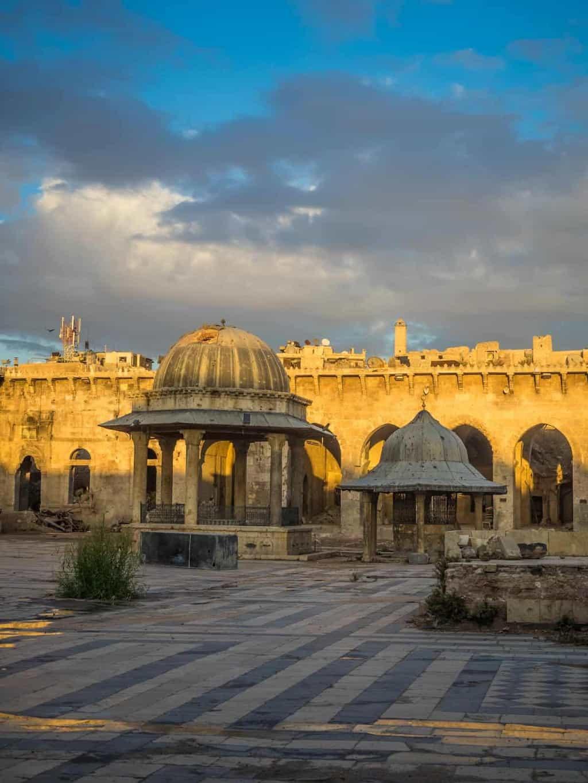 aleppo grand Mosque courtyard in 2017