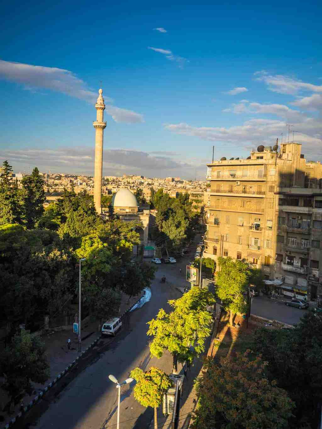 View from my hotel in Aleppo Syria