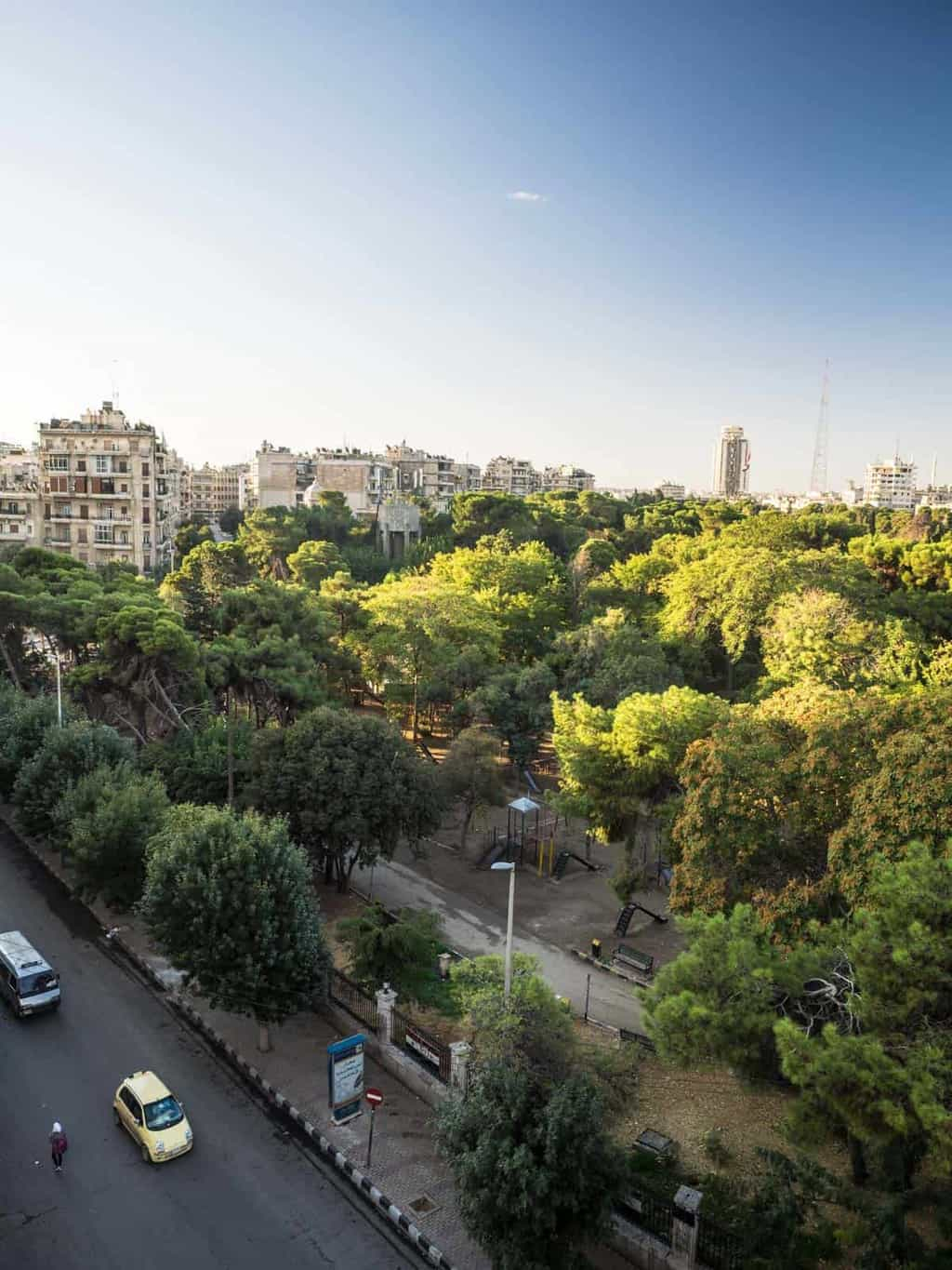 Green parks in Aleppo Syria